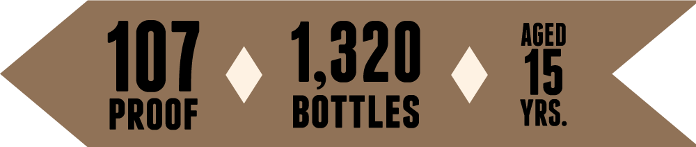 107 Proof • 1,320 Bottles<br>Aged 15 Years